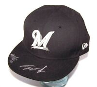 Milwaukee Brewers Baseball Signed Autographed 7 7/8 New Era 59Fifty Fitted Hat