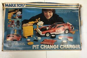 Marx Toys Pit Change Dodge Charger 1:12 Scale 1970's Plastic Model Kit Car 5175