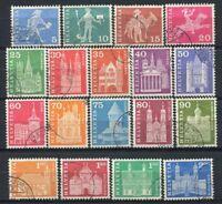 Schweiz 1960 Mi. 696-713 Gestempelt 100% Denkmäler