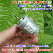 JOHNSON Small RS-380 Motor DC 5V 6V 7.4V 32500RPM High Speed DIY Car Boat Model