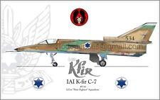 IAI K-Fir C-7 - 101st First Fighter Sq. IAF Israel Air Force - Poster Profile