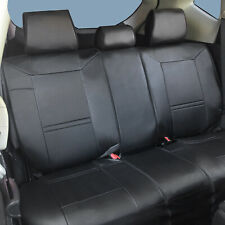 PU Leather Car Seat Covers Rear for BMW 2095 Black