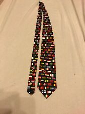 World Flag Necktie Men's International (Neck Tie Flags)