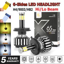 2pcs H4 CREE LED Headlight 6 Side 9003 Car Conversion Bulb Kit 3000K 8000K 6000K