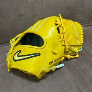 Nike Rigid Infield Baseball Glove Natural Tan Leather Used from Japan