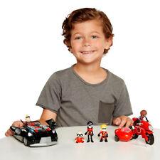 Los Increibles 2 Vehículo Set con 5 figuras (3+ años), familia Pack, Dash, Violeta