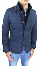 Jacket Mens Quilted Jacket Sartorial Blue Slim Fit Jacket Jacket Winter Vest