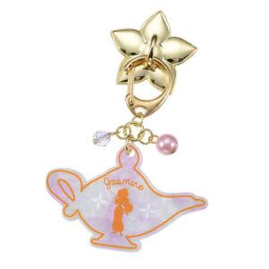 Disney Store Japan Princess Phone Case Back Motif Mobile Charm Clasp Chain Gold