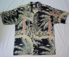 Tommy bahama Silk shirt sz M hawaiian floral lei black great design
