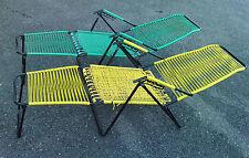lot 2 fauteuils chaise longue design 50/60 scoubidou