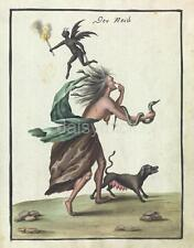Demon Witch Devil Snake Dog Magic Hag 1776 7x5 Inch Reprint Print