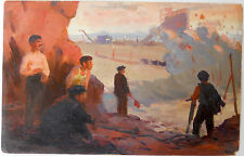 Soviet Socialist Realist Art,Painting by HARUTYUNYAN,Armenia,Armenian Laborers