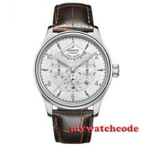 42mm parnis white dial power reserve miyota 9100 Automatic mens wrist Watch P540