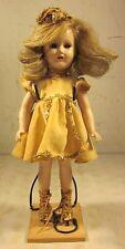 "Antique 1930's 1940's Madame Alexander 15"" Sonja Henie Composition Doll Original"