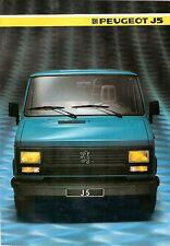 Prospekt / Brochure Peugeot J5 1985
