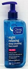 Clean & Clear Night Relaxing Deep Cleaning Face Wash 8 oz and