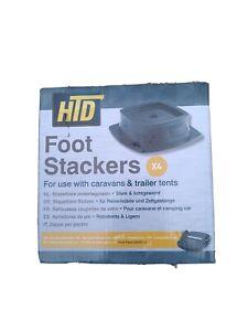 Caravan foot pad stackers. Box of 4