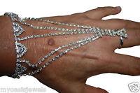 2x Rhinestone Austrian Crystal Slave Love Harems Bracelet Belly Dancer Exotic