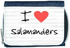 I Love Heart Salamanders Denim Wallet
