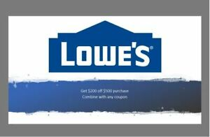 $200 off $500 Lowes purchase with new promotion for only $0.99. Read Description