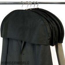 Hangerworld™ 30cm Fodere Protezione Spalline Cappotti Abiti Traspirante Nero