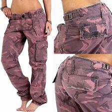 GUESS JEANS women's Pink-Camouflage Cargo Pants, Boyfriend/Loose-Fit sz.W 25 W25