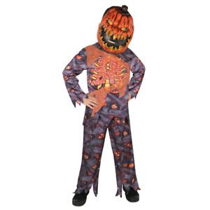 2 Pieces Halloween Pumpkin Zombie Costume - Kids Fancy Dress Outfit 8-14 Years