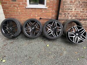 Alloy Wheels 22 inch Range Rover Satin Black With Tyres