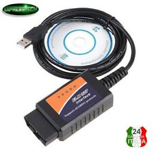 CAVO DIAGNOSI INTERFACCIA ELM 327 USB Scan OBD2 II V1.5 USB Universale per Auto