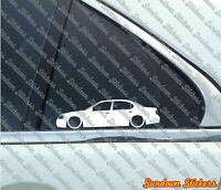 2X Lowered car outline stickers -for Nissan Maxima 5th gen A33, 2000–2003 L1136