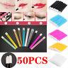 50Pcs Disposable Lip Brush Gloss Lipstick Colorful Wands Applicator Brush Tool