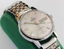 c.1960 vintage VULCAIN STAINLESS STEEL Mens Wristwatch - EXCELLENT & WORKING