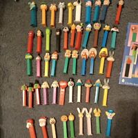 Lot Of Vintage Pez Dispensers With Pez Collectibles Book 51...
