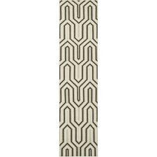 Safavieh Grey/ Multi Flat weave Wool Runner 2' 6 x 10'