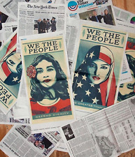 WE THE PEOPLE NY TIMES + USA TODAY POSTER SET : OBEY : SHEPARD FAIREY