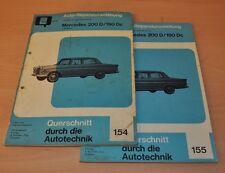 Mercedes Benz W110 Heckflosse 200D 190DC 1961-1968 Reparaturanleitung B154 155