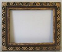 ART NOUVEAU HAND CARVED GILDED WOOD FRAME FOR PAINTING 17 1/2 X 13 1/2 INCH (e-7