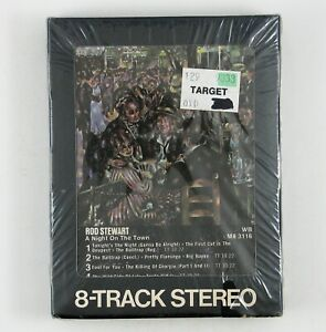 ROD STEWART A Night On The Town 8-TRACK TAPE 1976 ROCK (SEALED/UNPLAYED)