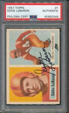 1957 Topps #1 Eddie LeBaron PSA/DNA Certified Authentic Signed Auto *2548