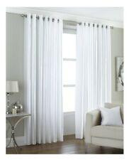 "Riva Home Curtains Fiji White 66""x90"" Lined Eyelet"