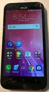 [BROKEN] Asus Zenfone Z00M ZOOXS 64GB Unlocked Black Cracked Glass