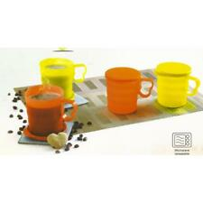 Tupperware Carribean Mugs- Yellow & Orange color- Set of 2- 350 ml each-NEW