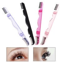 Foldable eyelash brush folding mascara wands eyebrows comb brush stainless st JB