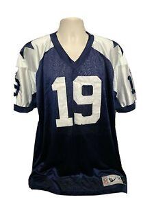 Vtg NFL Dallas Cowboys Keyshawn Johnson #19 Adult Blue Size 54 Throwbacks Jersey