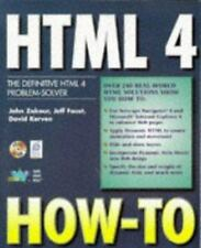 Html 4 How-To: The Definitive Html 4 Problem-Solver