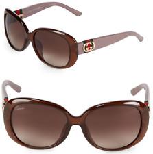 985b1bc32ba Gucci Oval Women Sunglasses GG 3660 k s 0yfj6 Gold Logo Brown Acetate  Gradient