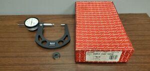 "Starrett Model 1016 Disc Brake Dial Gage .300 - 2.0"" W/ Box"