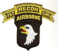 Vietnam RECON US Army 101st Airborne Division 506th Infantry Regiment 4 X 3.75in