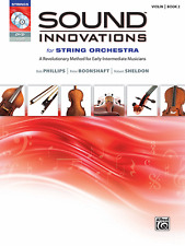 Sound Innovations For String Orchestra-Violin Music Book 2/Cd/Dvd Brand New Sale