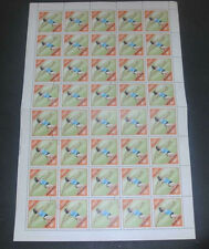 Hungary 1972 Olympic Games Javelin 80f Full Complete Sheet #S175